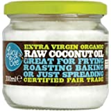 Lucy Bee Extra Virgin Organic Raw Fair Trade Coconut Oil 300ml (Pack of 3)