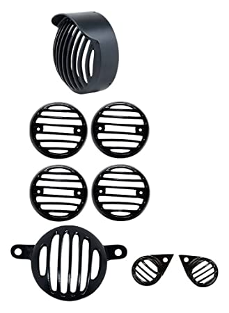 OEM Royal Enfield Grill Set Combo of Indicator Tail and Head Light Eyes