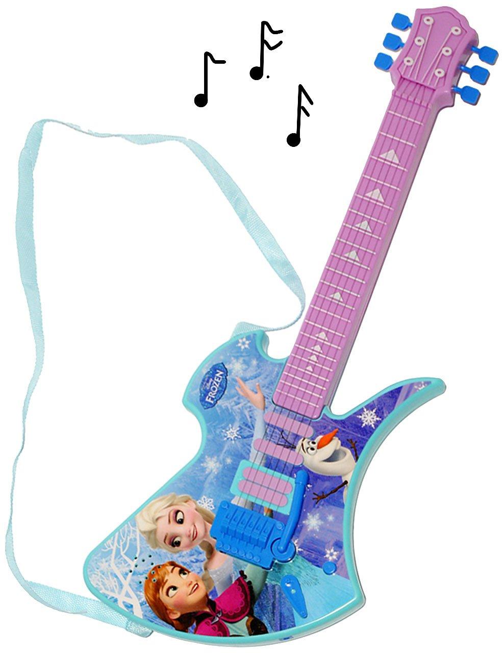 Unbekannt elektrische E-Gitarre -  Disney die Eiskönigin - Frozen  - incl. Name - akustische - Kindergitarre - mit Verzerrer ! spielt auch 3 Lieder ! - für Kinder - a..