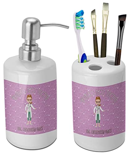 YouCustomizeIt Doctor Avatar Bathroom Accessories Set (Ceramic)  (Personalized)