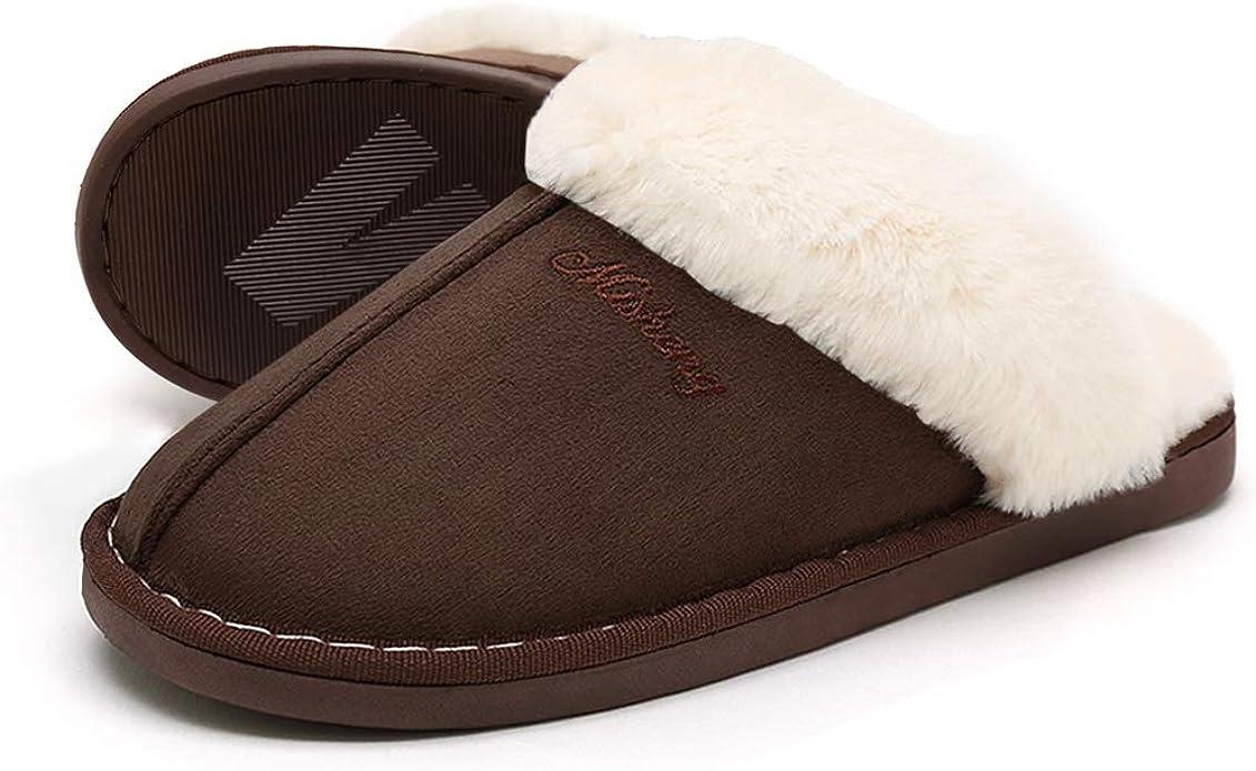 SOSUSHOE Women Slippers Fluffy Fur Slip