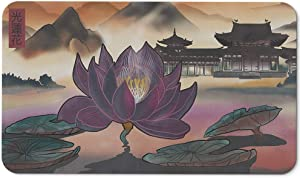 Paramint Light Lotus | MTG Playmat | Perfect for Magic The Gathering, Pokemon, YuGiOh, Anime | TCG Card Game Table Mat | Durable, Thick, Cloth Fabric Top with Rubber Bottom by Daniel Ziegler