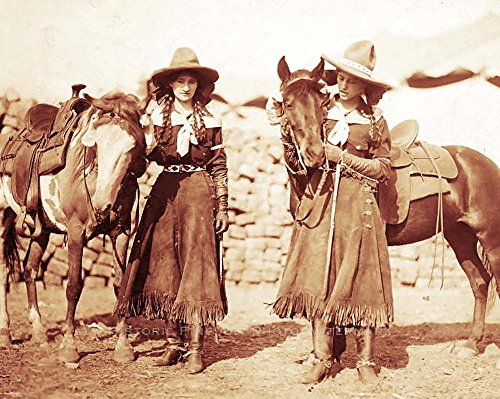 8 x 10 Photo Old West Cowgirls Vintage Photo Buffalo Bills Wild West Show 1899