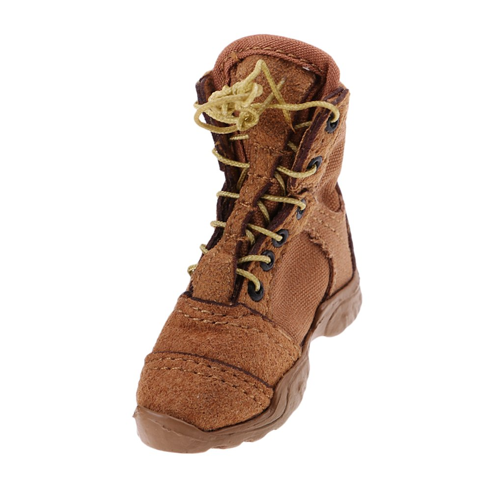 Dolity 1/6 Male Combat Boots Shoes for 12'' Hot Toys TC Dragon BBI Figure Accessory D