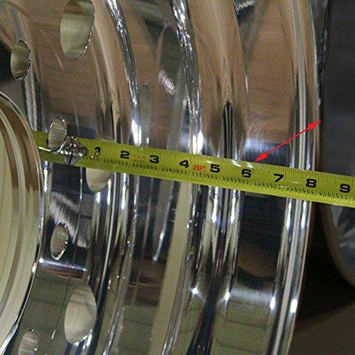 Accuride 29378 - 12.25 x 22.5 Aluminum 10-Lug Semi-Polished Trailer Wheel