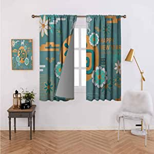 Amazon.com: Decorative Curtains for Living Room Lunar Year ...