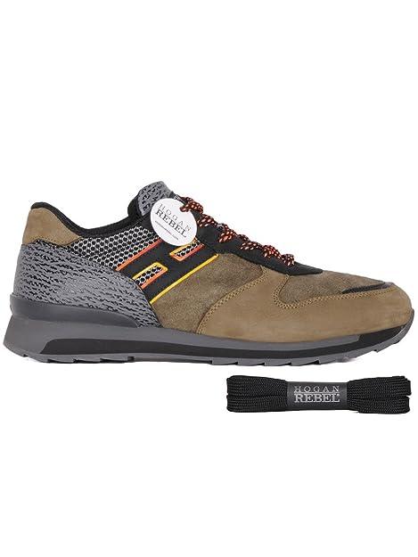 fd76cc72a1 Hogan Rebel Sneakers Uomo Hxm2610r671dyg0xg4 Camoscio Verde: Amazon.it:  Scarpe e borse