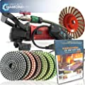 Secco CCGRINDPOLSET 5-Inch Variable Speed Concrete Wet Polishing and Grinding Kit, Includes Fu-Tung DIY DVD