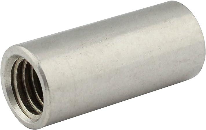 Rundmuffen - Gewindemuffen in runder Ausf/ührung V2A M10x40 Abstandshalter Edelstahl A2 - Verbindungsmuffen D/´s Items/® 20 St/ück