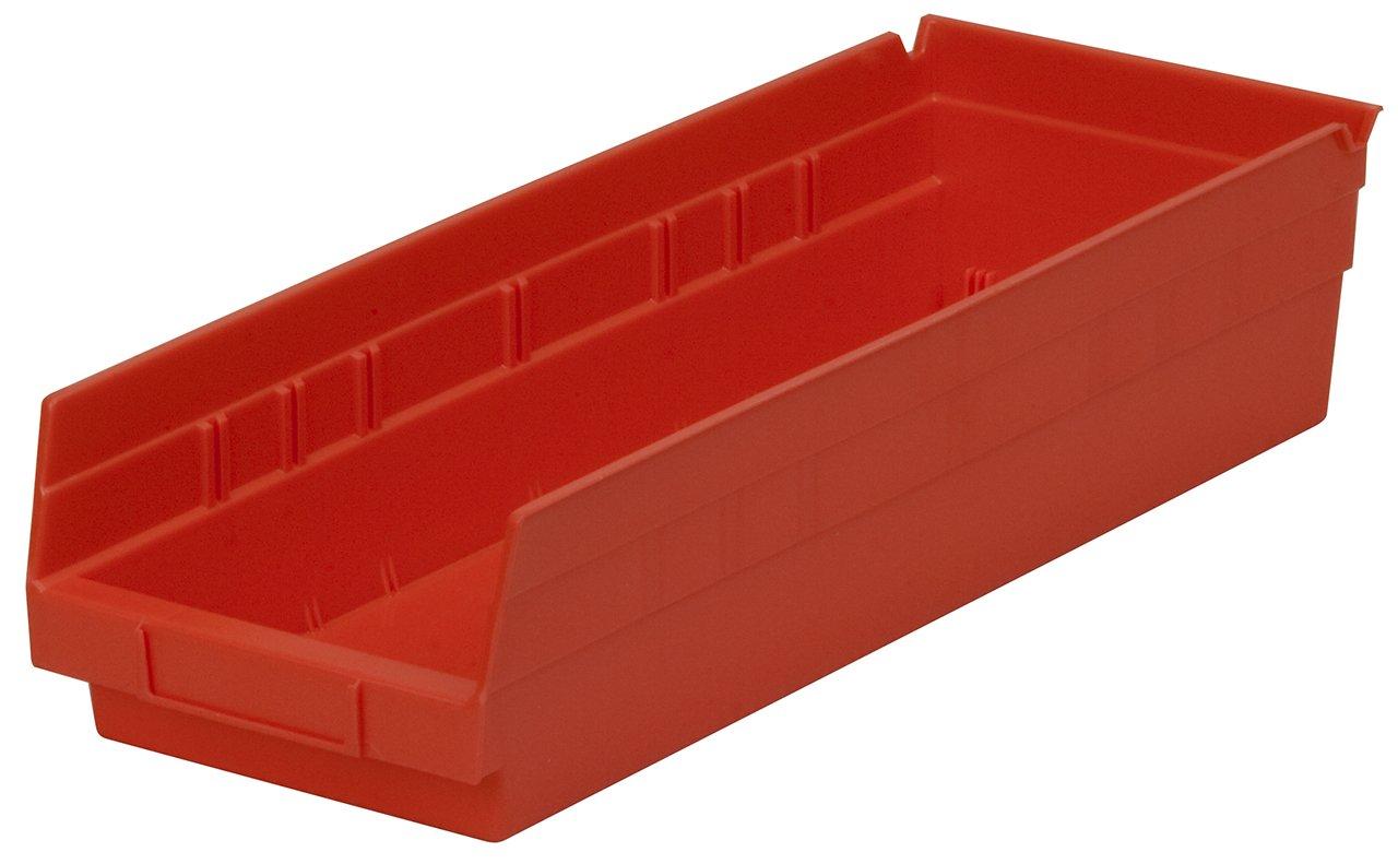 Akro-Mils 30138 18-Inch by 6-Inch by 4-Inch Plastic Nesting Shelf Bin Box, Blue, Case of 12