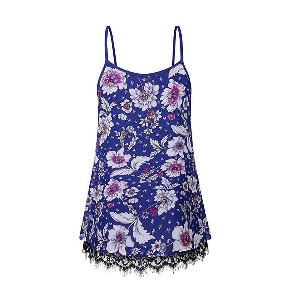 Kiminana Women's Lace Cami Print Basic Lace Cami Basic Camisole Tank Top Vest Purple
