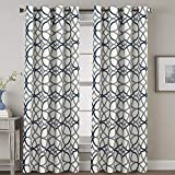 H.Versailtex Thermal Insulated Blackout Grommet Curtain Drapes for Living Room/Bedroom - 52 inch