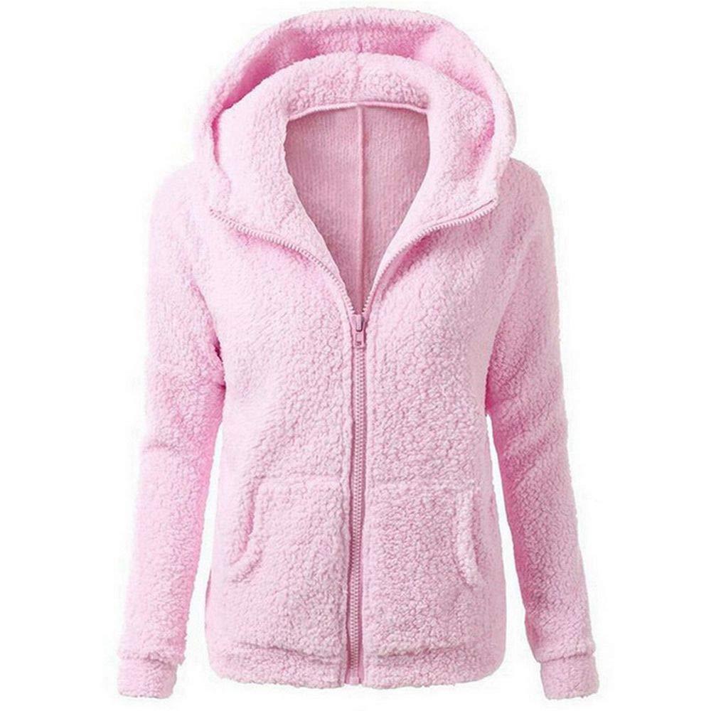 Spring Moon Women Warm Jackets Fashion Women's Long-Sleeved Wool Hooded