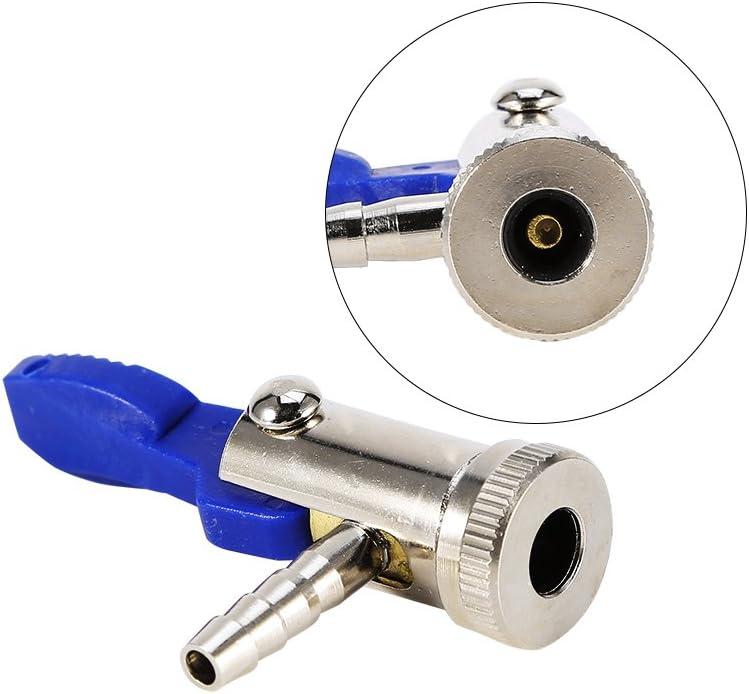 EBTOOLS 6mm Clip en Chuck Neum/ático V/álvula Conector Neum/ático Aerol/ínea Inflador V/álvula Coche Moto