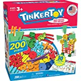 TINKERTOY 30 Model Super Building Set – 200 Pieces – For Ages 3+ Preschool Educational Toy (Amazon Exclusive)