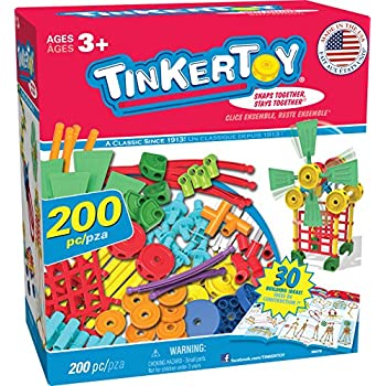 TINKERTOY 30 Model Super Building Set – 200 Pieces – For Ages 3+ Preschool Educational Toy