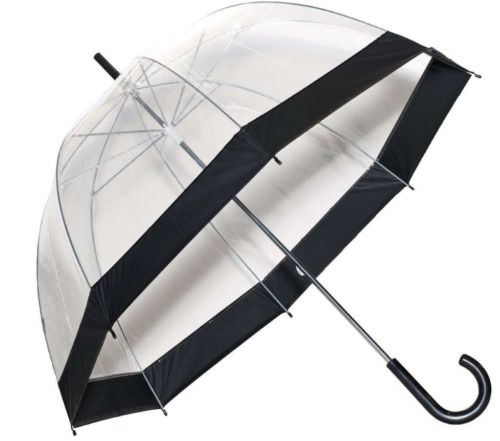 Clear Bubble Umbrellas Black Trim S Frankford and Sons Inc RB01-BLK