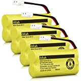 iMah Ryme B2-2 BT18433 BT28433 Cordless Phone Battery Pack for Vtech CS6219 CS6229 DS6301 DS6151 DS6101 BT184342 BT284342 BT-1011 BT-1018 BT-1022 BT-1031 Home Handset Telephone (Pack of 4)