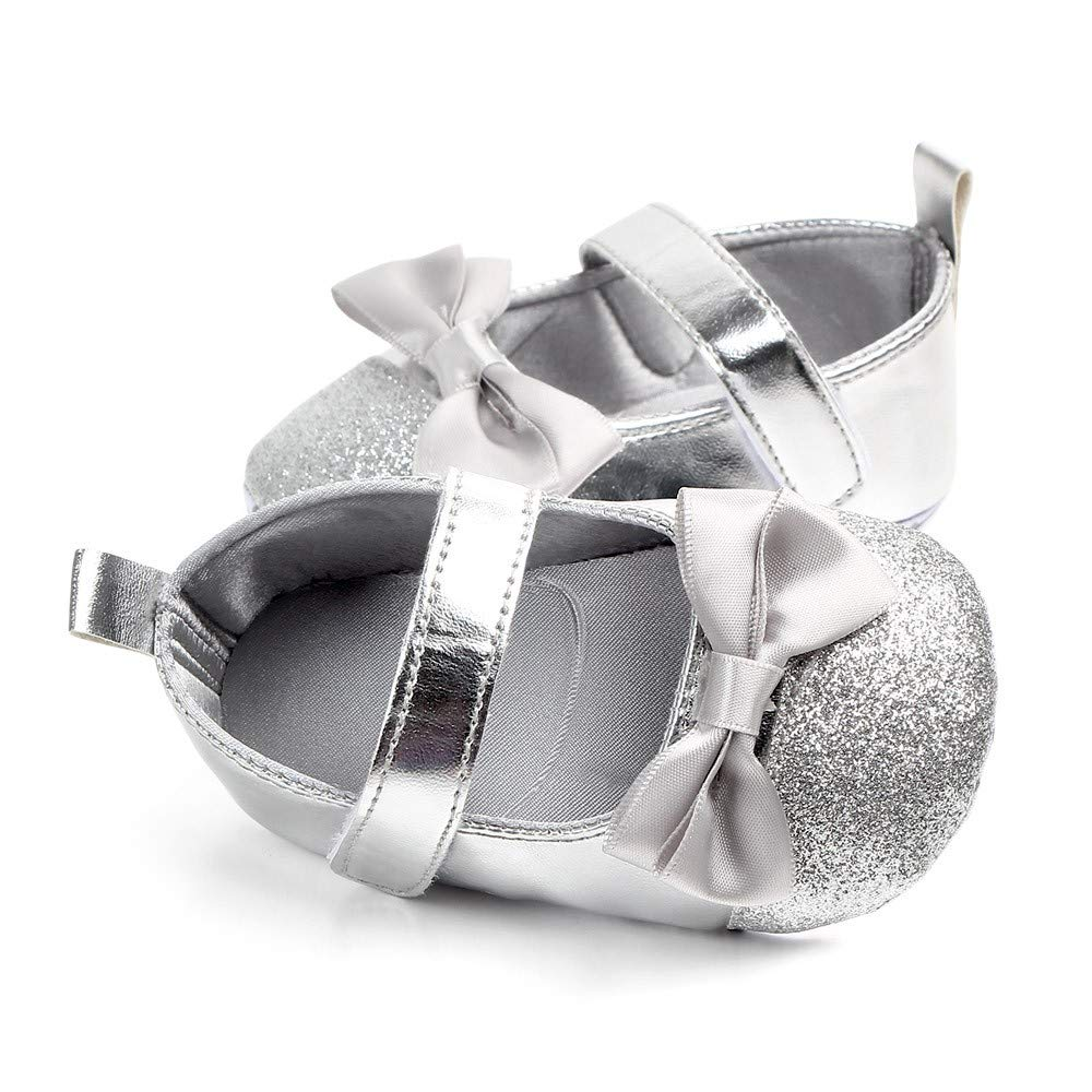 Pandaie Baby Boy /& Girl Shoes /Newborn Toddler Baby Girls Bowknot Bling First Walkers Soft Sole Shoes