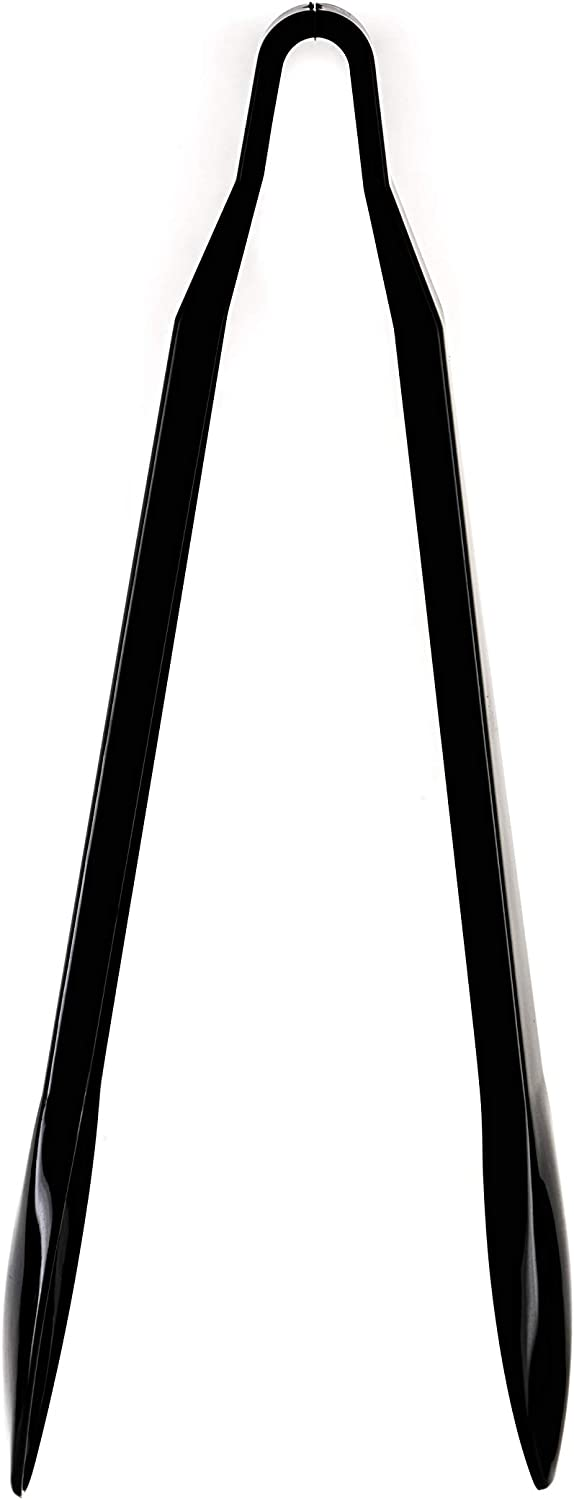 Set of 48 - Heavy Duty Black Serving Tongs - 9 inch - Plastic Disposable Salad Tongs - High Heat Plastic, Catering, Salads, Bakery, Buffets, BBQ, Ice, Hot and Cold Foods (9