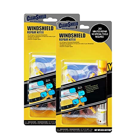 Clearshield Diy Windshield Repair Kit Auto Glass Rock Chip Repair Kit For Star Horseshoe Bull S Eye Chips Or Cracks No Need To Replace The Whole