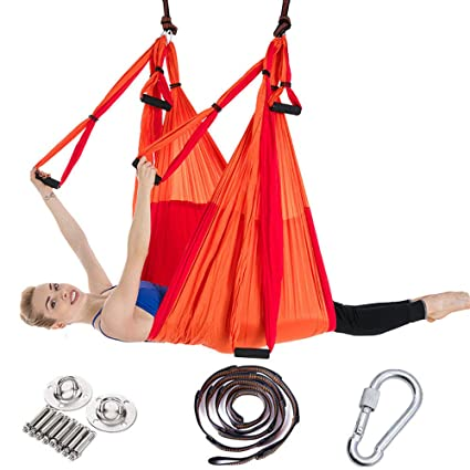 XIALIUXIA Aerial Yoga Swing Hammock, Yoga Hammock/Trapeze ...