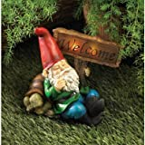 Welcome Gnome Solar Light Statue Outdoor Yard Garden Patio Home Lawn Decor Review