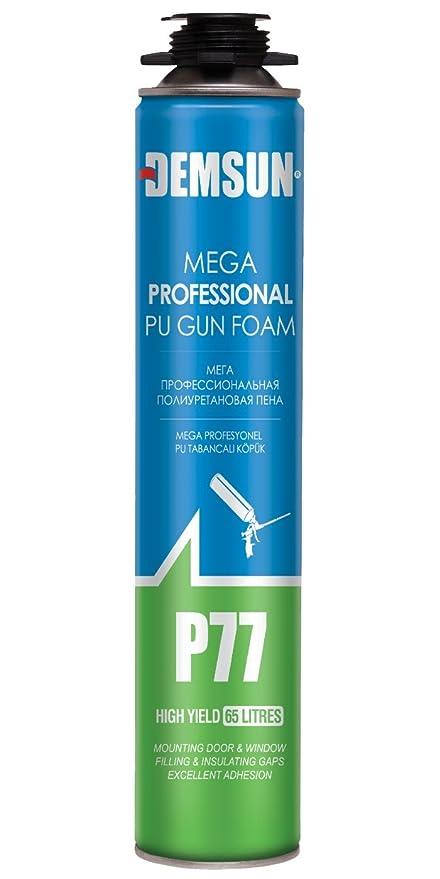 P77 1000 ml Espuma de relleno,, impermeable y más se puede pintar con pistola + libre guantes: Amazon.es: Bricolaje y herramientas