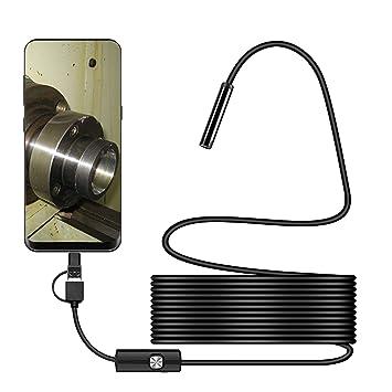 Amazon.com: Cámara de inspección boroscopio USB, interfaz 3 ...