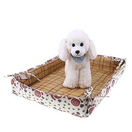 Acorre Alfombrillas de cama para mascotas de verano para perros y gatos, alfombrilla de refrigeración