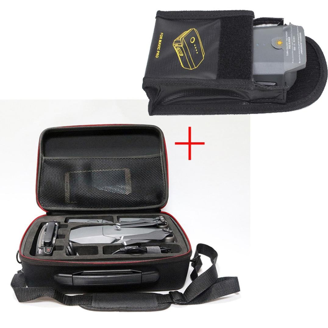 BrilliantLLC Waterproof Shoulder Bag Carry Case+Lipo Battery Safe Anti-explosion Protector For DJI MAvic PRO