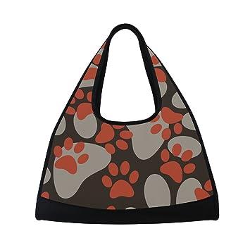 TIZORAX Bolsa de Viaje para Gato o Perro, Diseño de Huellas de pie, Bolsa de Deporte para Gimnasio: Amazon.es: Deportes y aire libre