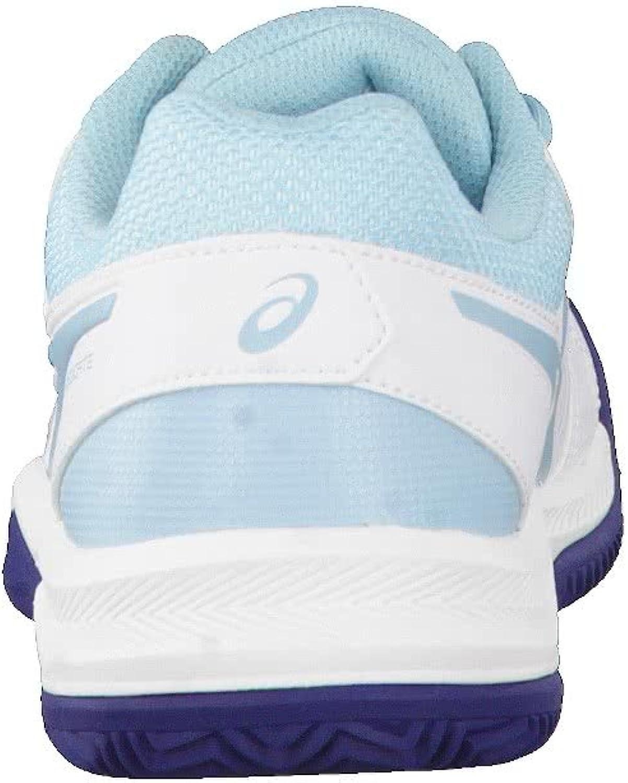 ASICS Gel-Dedicate 5 Clay, Chaussures de Tennis Femme Multicolore White Porcelain Blue Indigo Blue 0114