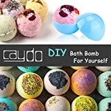 Caydo 15 Set 3 Size DIY ABS Plastic Bath Bomb Mold with 30 Pieces Shrink Warp Bags for Crafting Your Own Fizzies
