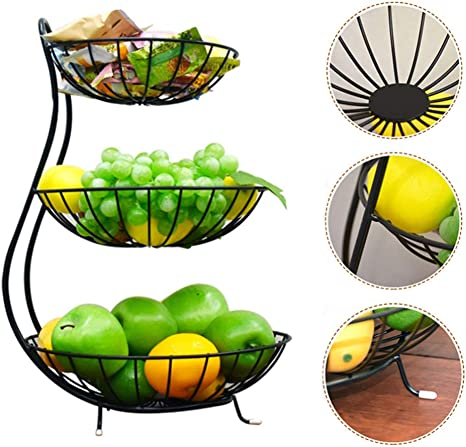 frutero Cesta de Drenaje Null LZK Plato de Fruta de Acero Inoxidable Grueso Sala de Estar Cesta de Frutas Grande