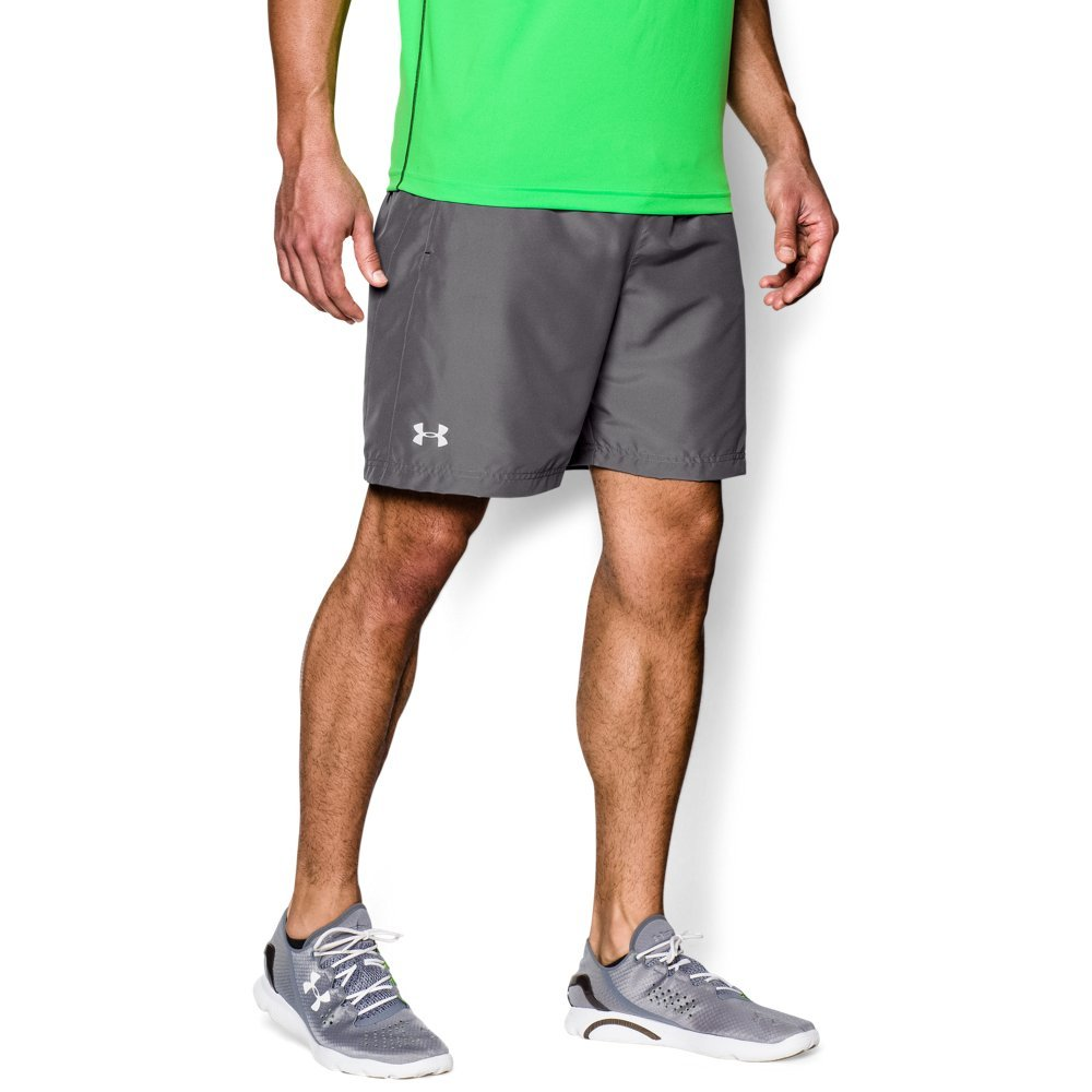 Under Armour Men's Launch Run Woven 7'' Run Shorts, Graphite /Reflective, Small by Under Armour (Image #1)