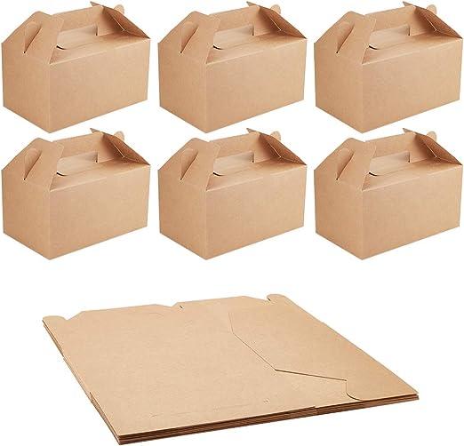 NBEADS Caja de Papel Kraft, 10 Unidades Caja de Cartón de Papel de Pastel de Caramelo