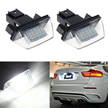 Ralbay LED License Plate Lamp, Number License Plate Light 18SMD White Color Replacements for Peugeot Pack of 2: Amazon.es: Coche y moto