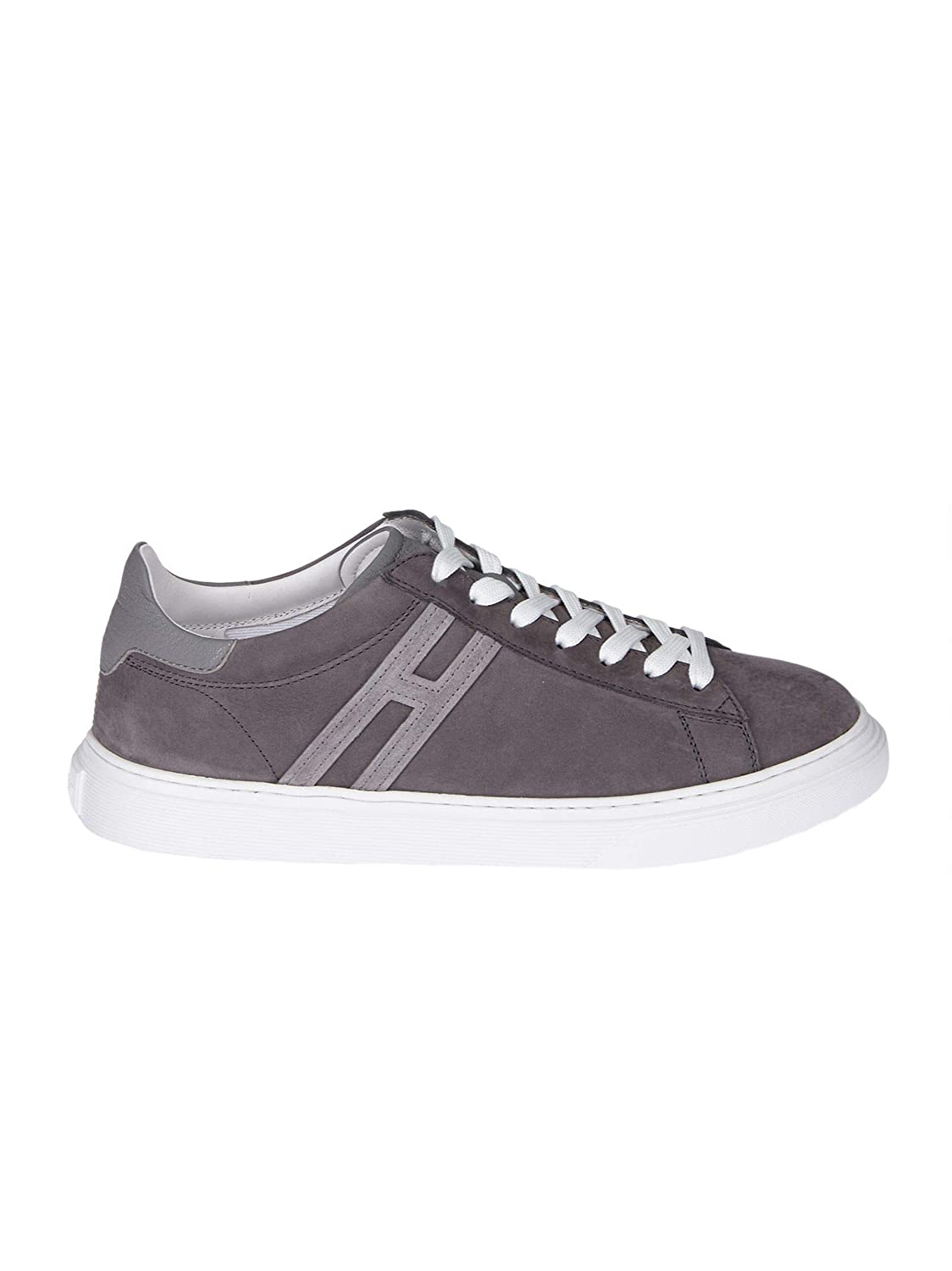 - Hogan Men's HXM3650J960I7PB414 Grey Leather Sneakers