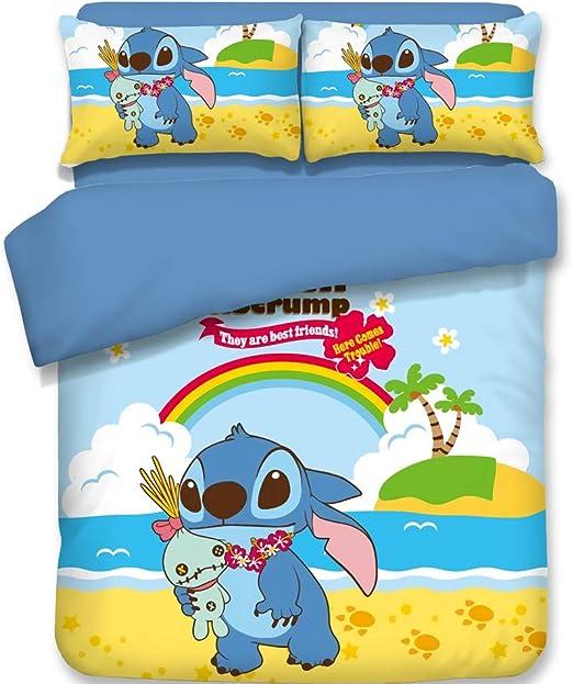 Lilo Stitch Cotton Blend Nursery Duvet Cover Beding Set Bed Sheet Pillowcsae New