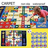 Extpro Kids Carpet Playmat Rug and Flying Chess Carpet Aeroplane Chess Carpet for Kid's Play Room Games