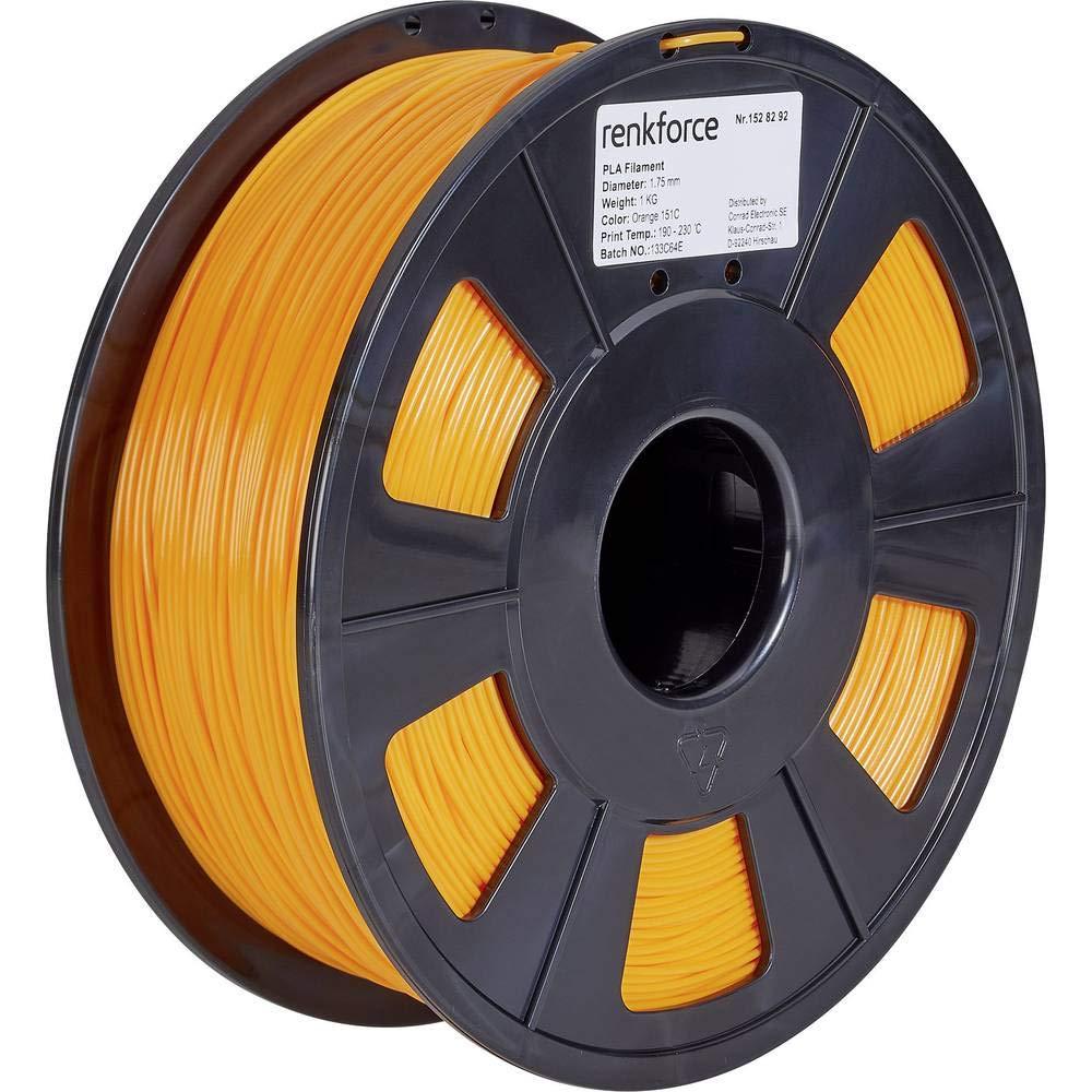 Renkforce Filament PLA 1.75 mm Orange 1 kg: Amazon.es: Electrónica