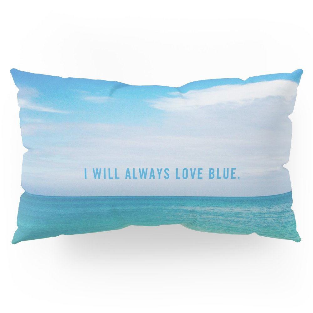 Society6 I Will Always Love Blue. Pillow Sham King (20'' x 36'') Set of 2