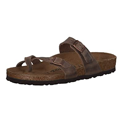 7181bdfacc19 Image Unavailable. Image not available for. Color  Birkenstock Women s  Mayari Adjustable Toe Loop Cork Footbed Sandal Tobacco 35 ...