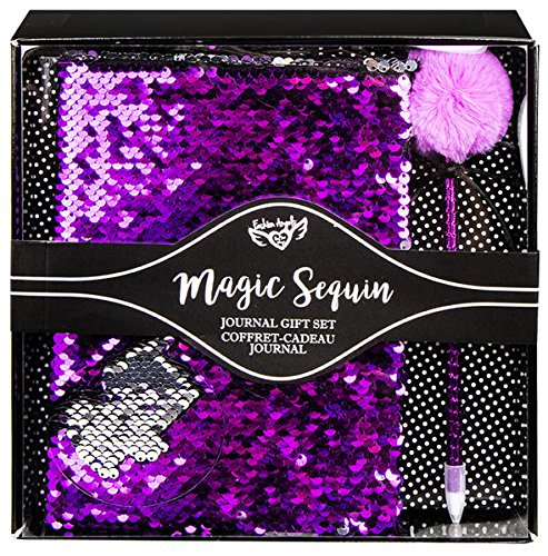 S.Lab Magic Sequin Journal Gift Set - Purple/Silver