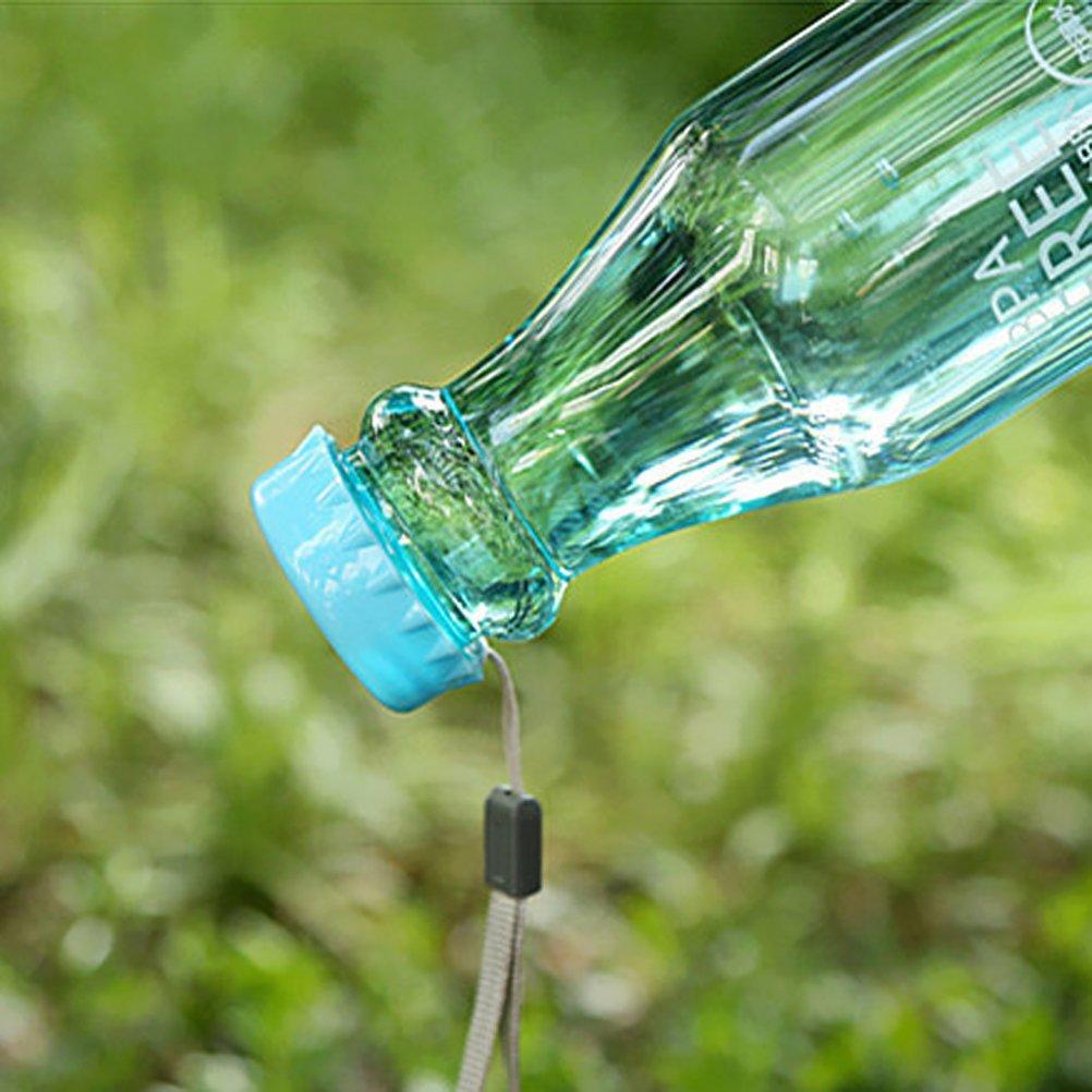 azul cielo VORCOOL 550/ml botella de agua port/átil BPA gratis transparente botella de pl/ástico Impermeable para corriendo deportes de Plein Air