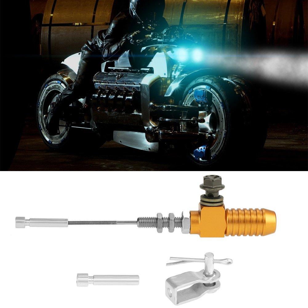negro//naranja//oro//azul//plata Bomba de freno de varilla M10x1.25 mm Cilindro maestro del embrague hidr/áulico de la motocicleta universal Blue