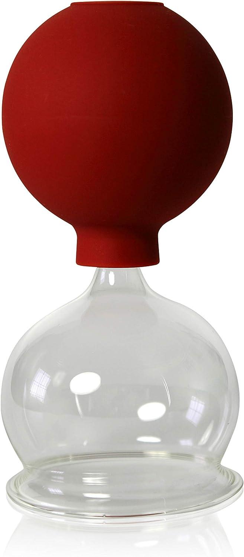 Lot de 3/ventouses en verre de avec balle 45 55 ventouses en verre ventouses en verre Verre Lauschaer loriginal 65/mm pour professionnels handgeformt m/édical feuerlosen souffl/é