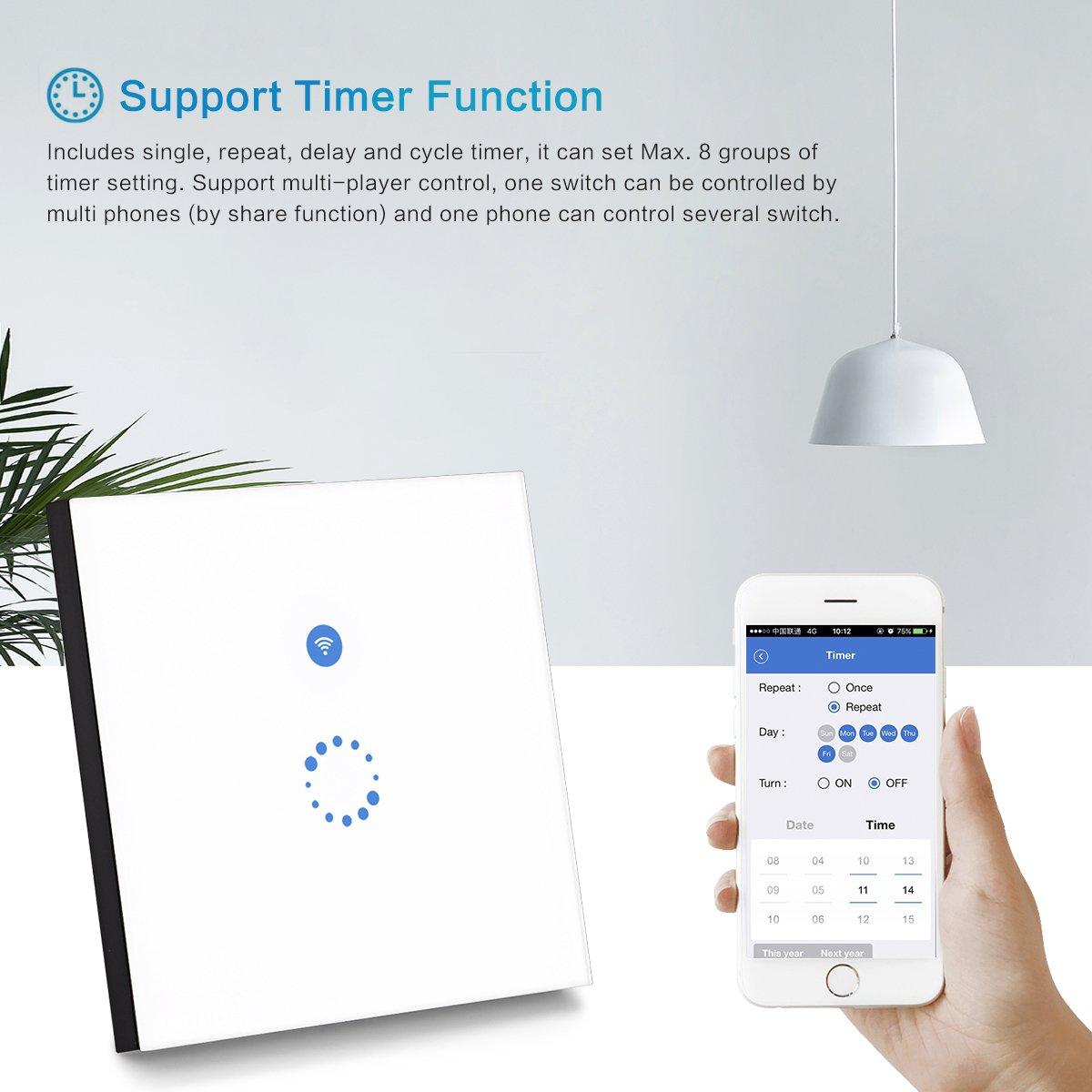 Sonoff Touch Schalter( Funktioniert mit Amazon Alexa [Echo, Echo ...