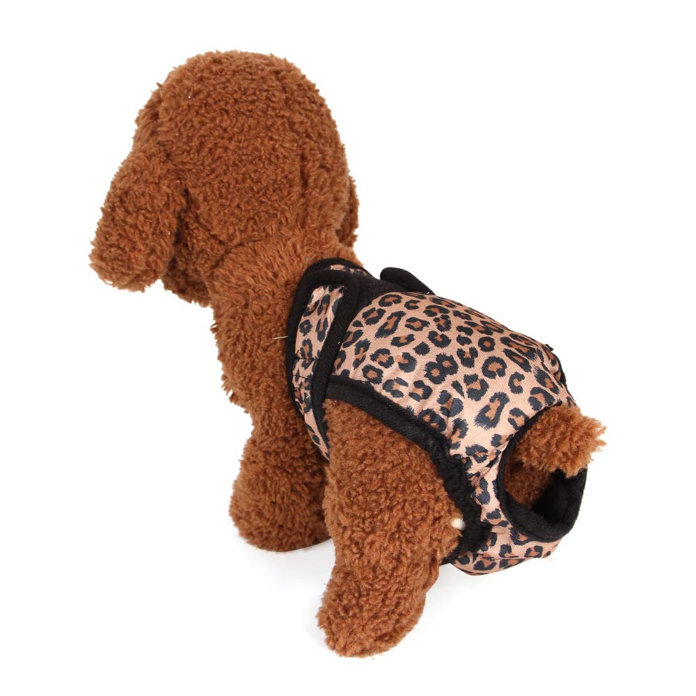 Decdeal Pantalones Fisiol/ógicos para Hembra Mascota Pa/ñal Femenino de Perros Pantalones Cortos Sanitarios Bragas Menstruaci/ón Ropa Interior Calzoncillos para Animales